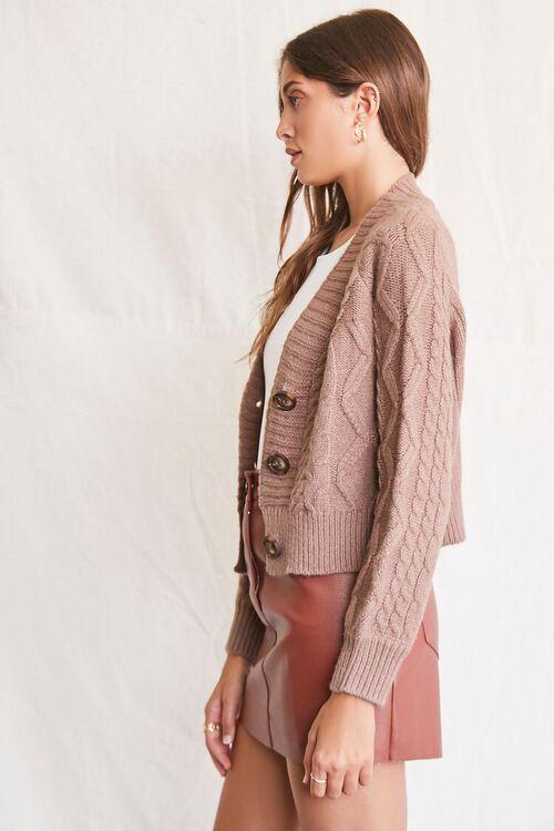 MOCHA Cable Knit Cardigan Sweater, image 2