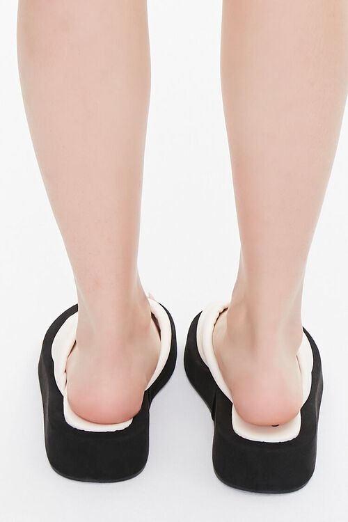 Quilted Thong-Toe Flatform Sandals, image 3