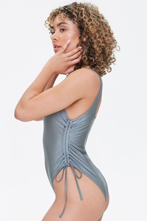 Drawstring One-Piece Swimsuit, image 2
