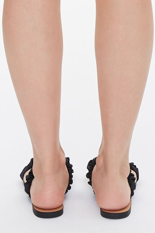Satin-Strap Flat Sandals, image 3