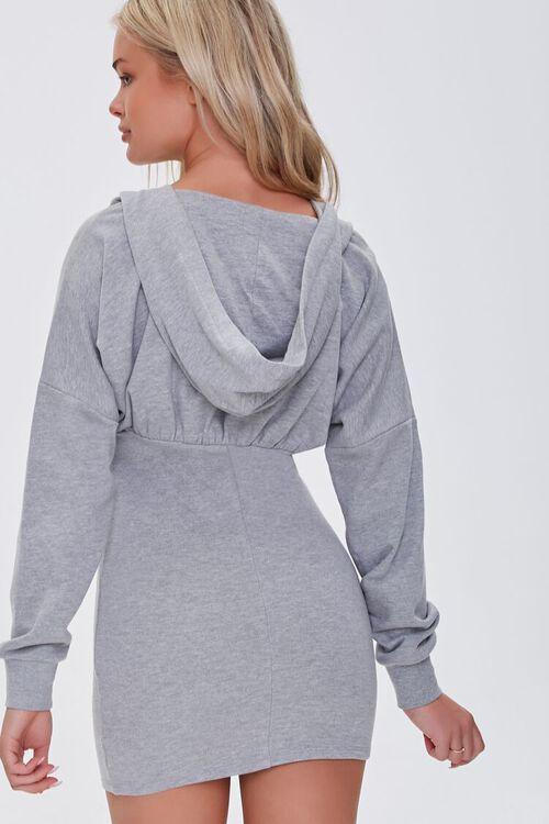 HEATHER GREY Zip-Up Hoodie Dress, image 3