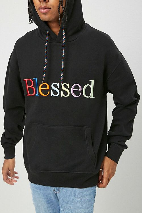 Blessed Embroidered Graphic Hoodie, image 1