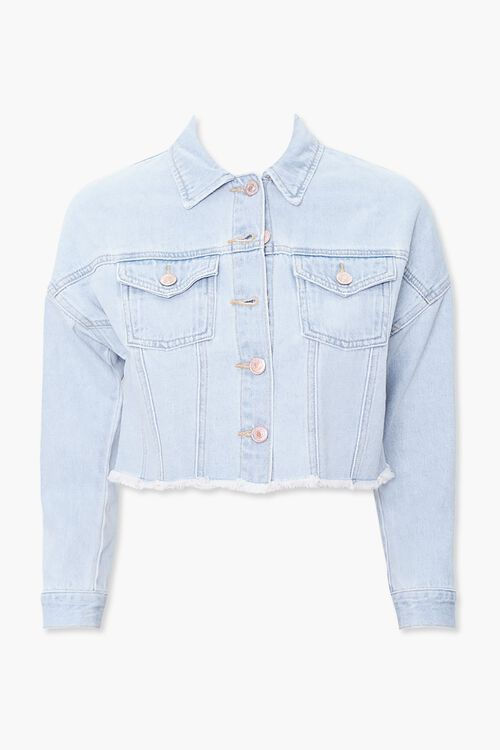 Girls Frayed Denim Jacket (Kids), image 1