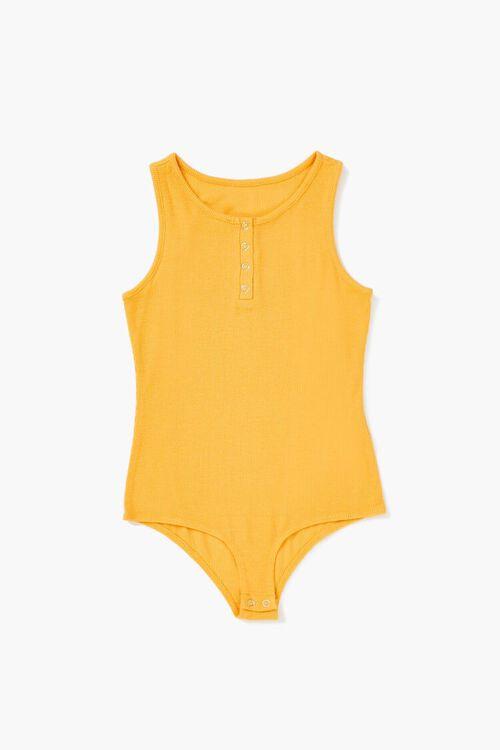 Girls Sleeveless Henley Bodysuit (Kids), image 1
