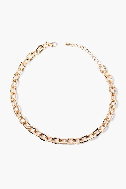 GOLD Anchor Chain Necklace, image 2