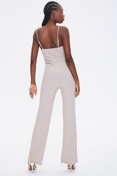 OATMEAL Ribbed Cami Jumpsuit, image 3