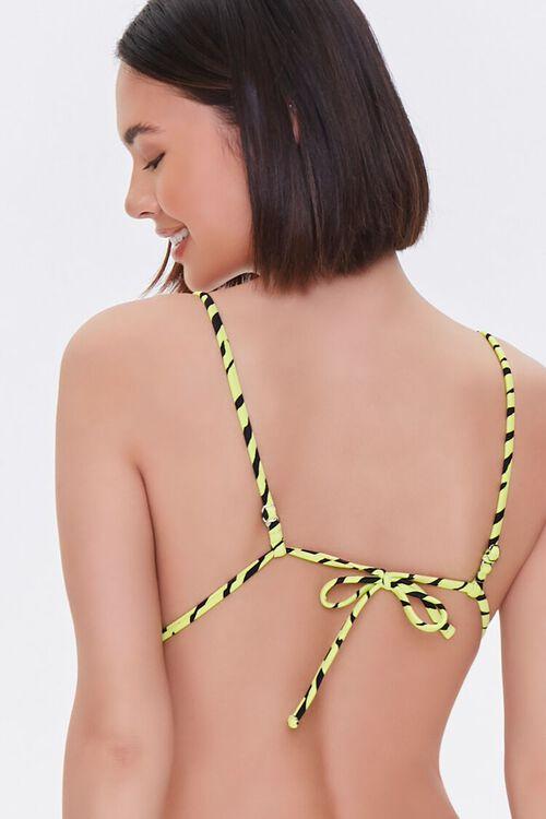 Tiger Striped Bikini Top, image 3