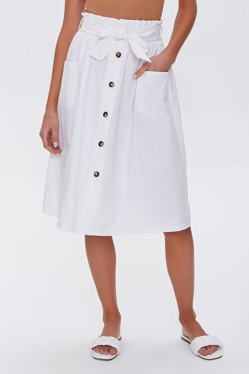 Flowy Button-Down Skirt, image 2
