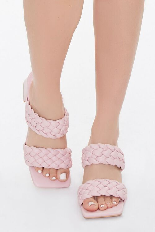 Braided Square-Toe Block Heels, image 4