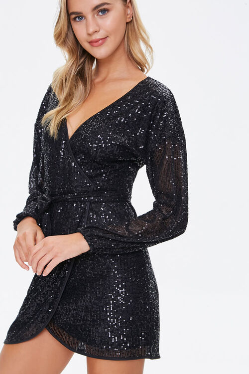 Glittered Wrap Dress, image 1