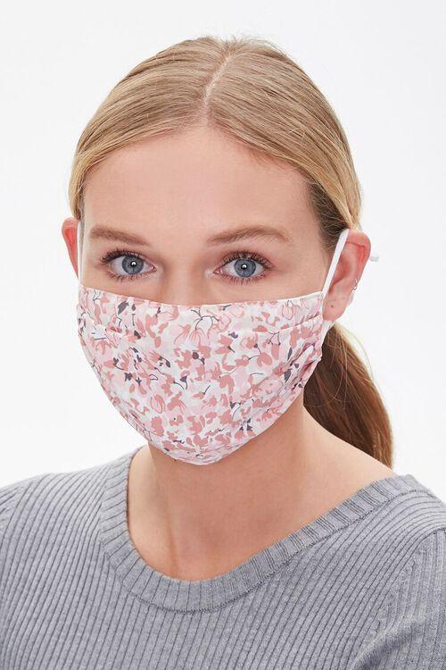 PINK/MULTI Floral Face Mask & Scrunchie Set, image 2