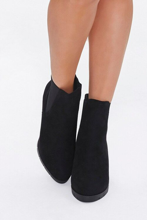 Faux Suede Block Heel Chelsea Boots, image 4