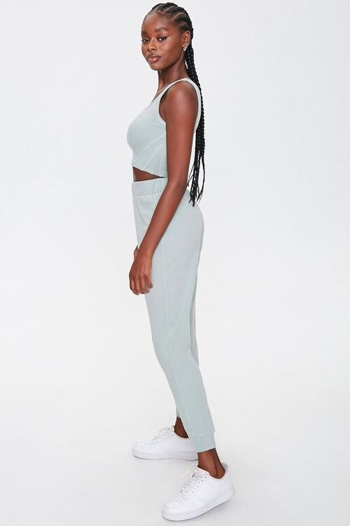 Cropped Tank Top & Joggers Set, image 2