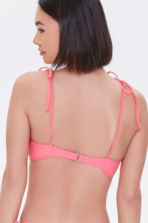 PINK Tie-Strap Bikini Top, image 3