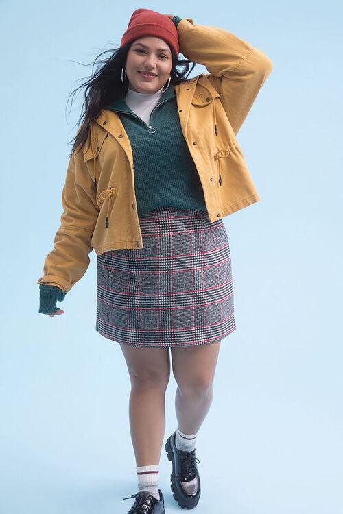 Plus Size Plaid Mini Skirt, image 1