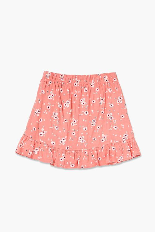 PINK/MULTI Girls Floral Print Skirt (Kids), image 2