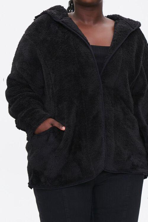 Plus Size Hooded Faux Fur Coat, image 5