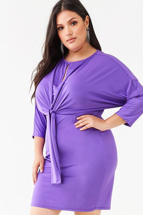 Plus Size Knotted Mini Dress, image 1