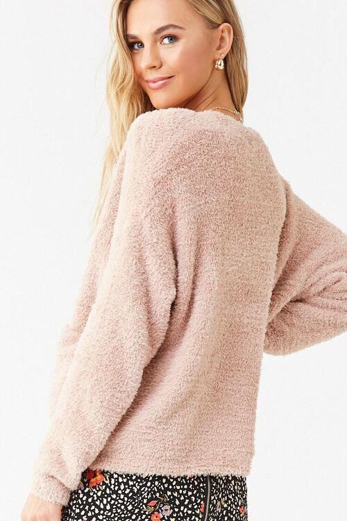 Faux Fur Button-Front Cardigan, image 3