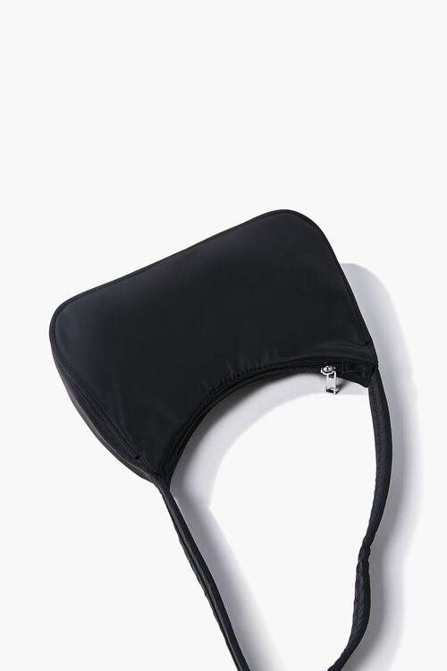 BLACK Zippered Shoulder Bag, image 3