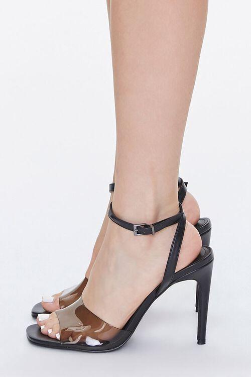 BLACK Semi-Transparent Stiletto Heels, image 2