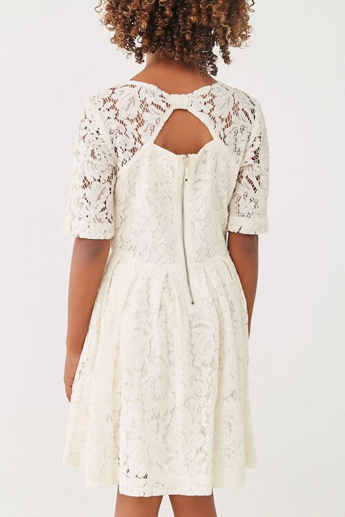 Girls Lace Fit & Flare Dress (Kids), image 3