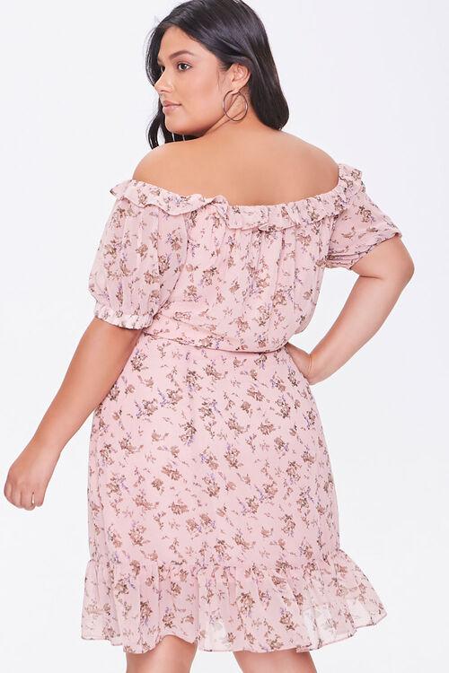 Plus Size Off-the-Shoulder Floral Print Dress, image 3