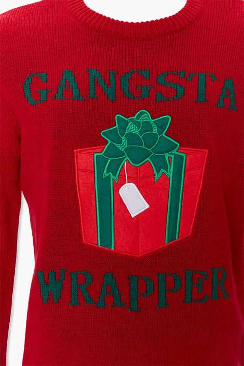 Gangsta Wrapper Graphic Knit Sweater, image 4
