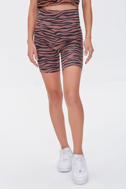 Tiger Striped Biker Shorts, image 2