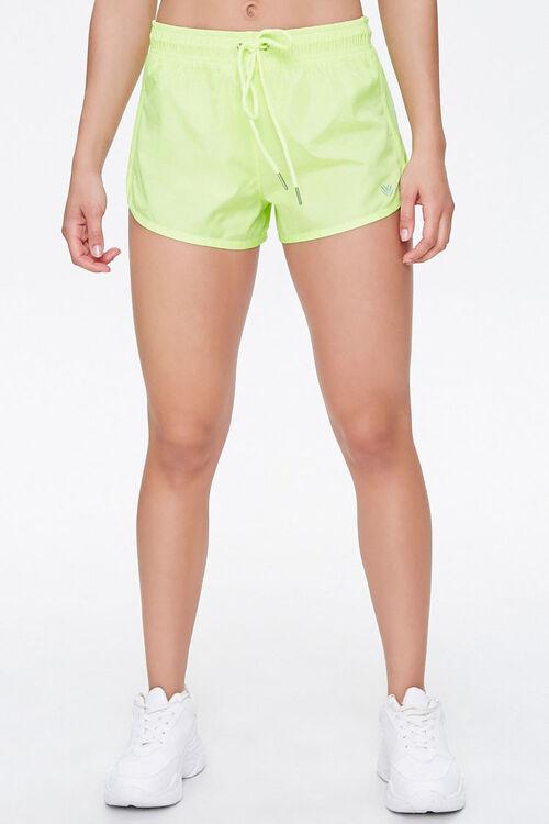 Active Sheer Mesh-Trim Shorts, image 2