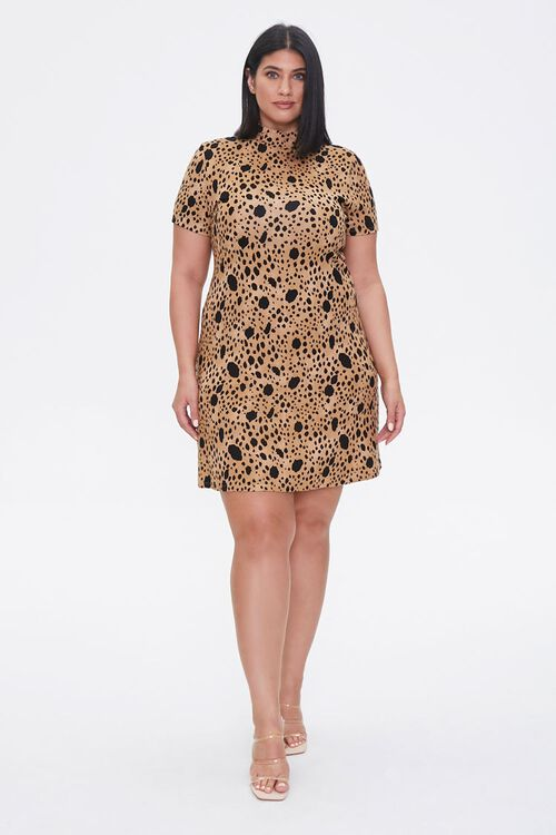 Plus Size Spotted Bodycon Dress, image 4