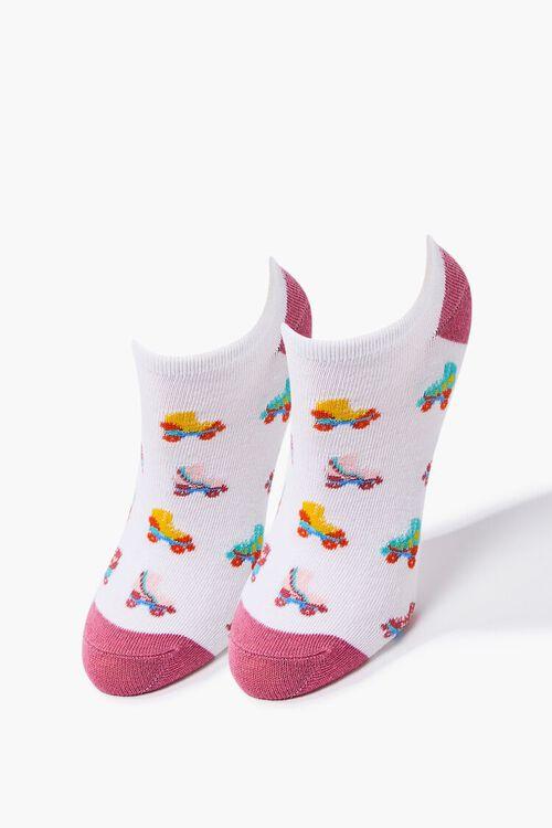 Roller Skates Print Ankle Socks, image 1