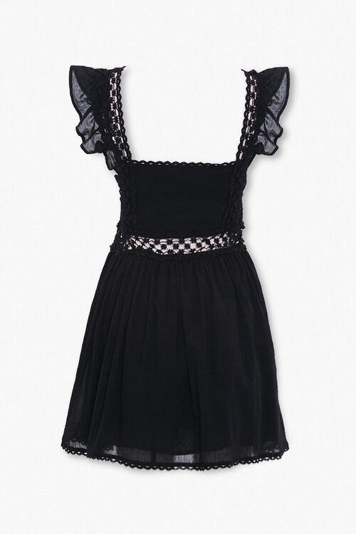 Crochet-Trim Fit & Flare Dress, image 3