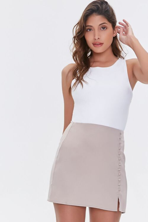 Button-Front Mini Skirt, image 1