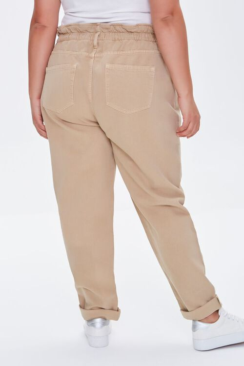 Plus Size High-Rise Paperbag Jeans, image 4