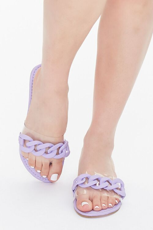 Curb Chain Flat Sandals, image 4