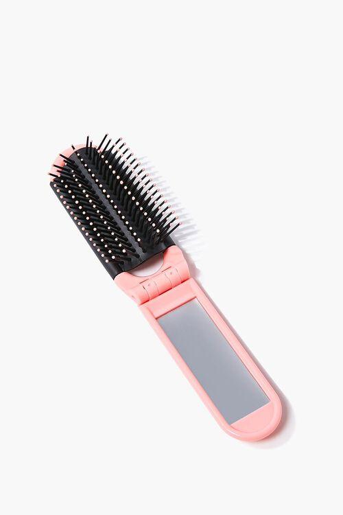 Foldable Mirrored Hair Brush, image 1