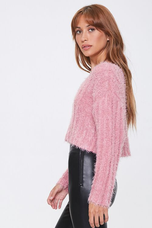 Fuzzy Knit Ribbed Sweater, image 2