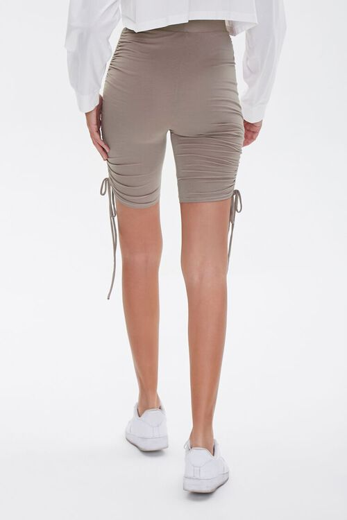 Ruched Drawstring Biker Shorts, image 4