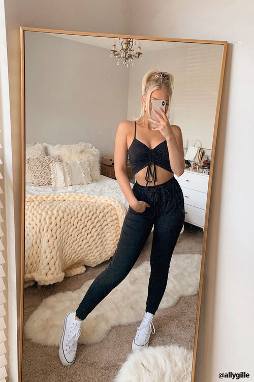 Cropped Cami & Joggers Set, image 1