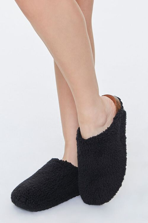Faux Shearling Slippers, image 1