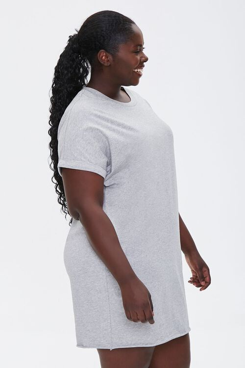 Plus Size Cuffed T-Shirt Dress, image 2