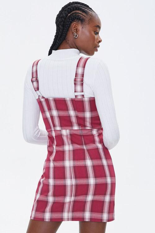 Plaid Zippered Overall Dress, image 3