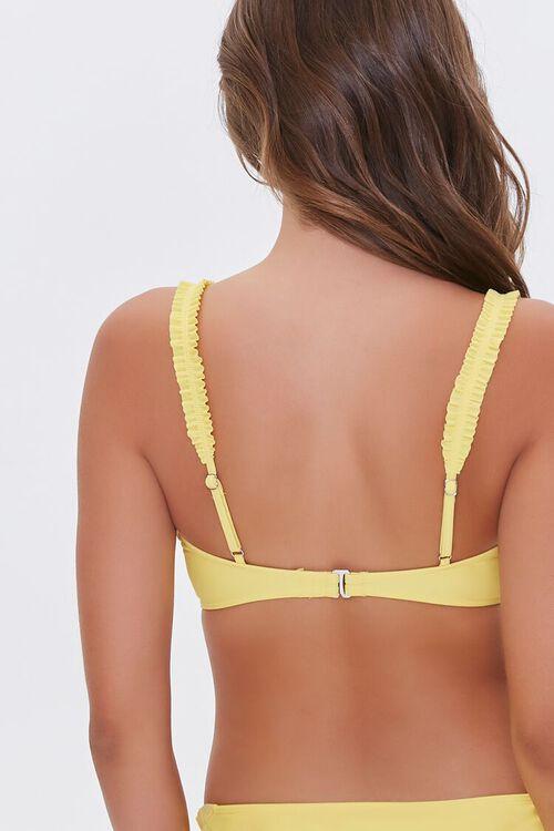 Ruched-Strap Bralette Bikini Top, image 4