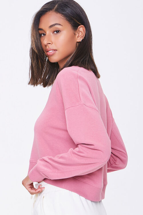 Split-Neck French Terry Pullover, image 2