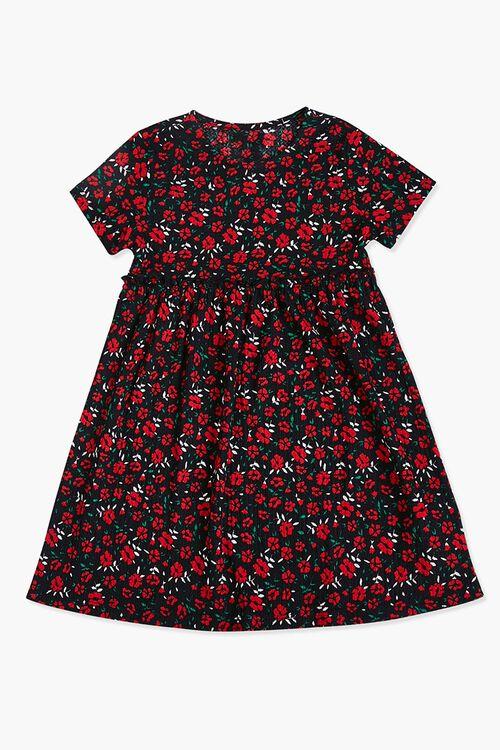 Girls Floral Ruffled Dress (Kids), image 1