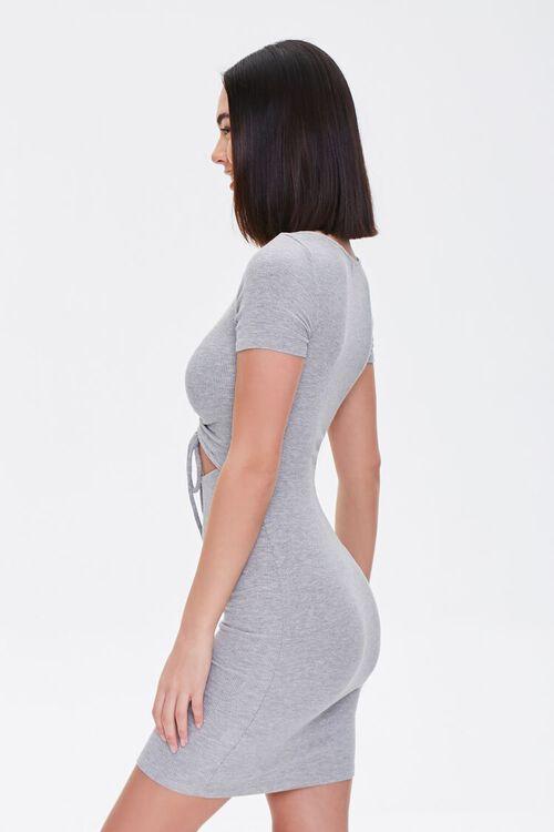 Ruched Drawstring Mini Dress, image 2