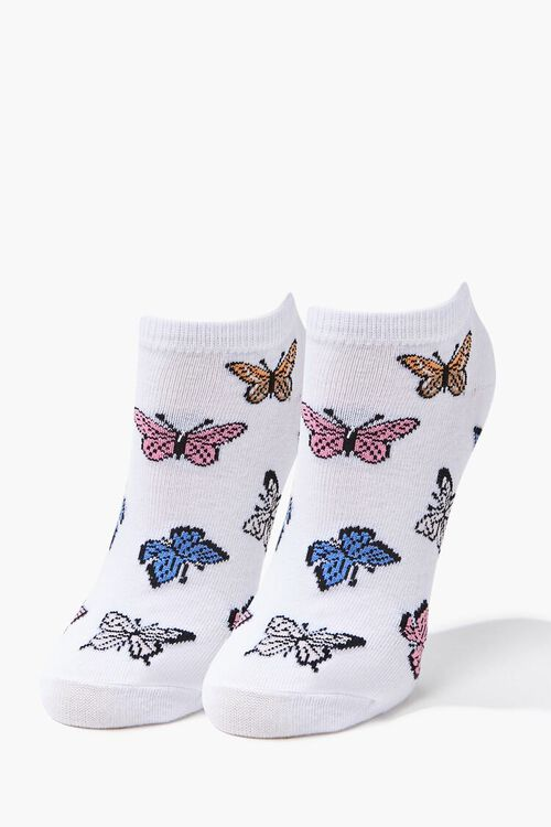Butterfly Print Ankle Socks, image 1