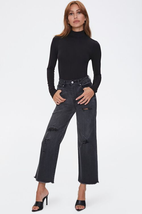 Frayed Flare Ankle Jeans, image 5