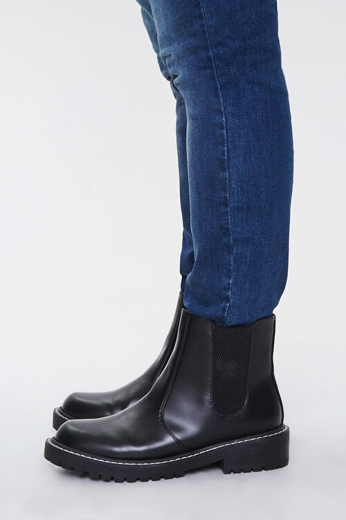 Faux Leather Chelsea Boots (Wide), image 3